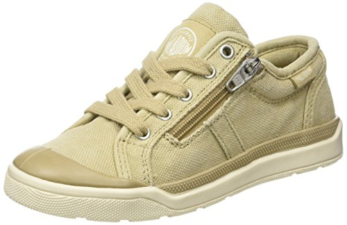 Palladium Pallarue Zip Cvs, Sneakers Basses Mixte Enfant Beige (Sahara/marshmallow)