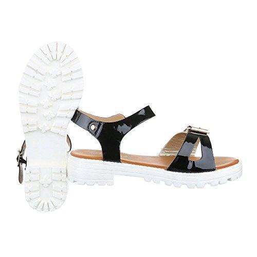 Ital-Design - Sandali alla schiava Donna oro nero