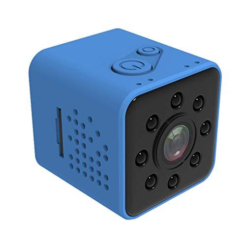 JUN Mini Kamera WI-FI Kamera Shell Sensor CMOS FULL HD 1080P Wasserdichter Nachtsicht-Camcorder (Color : Blue) -
