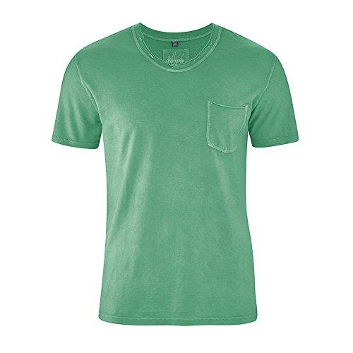 HempAge Herren Hanf Bio-Baumwolle T-Shirt Ronaldo Smaragd