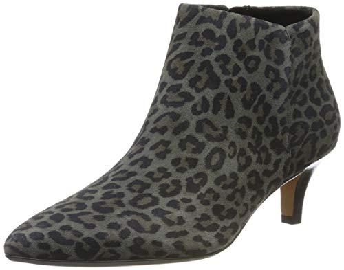 Clarks Linvale Sea, Zapatos con Tira de Tobillo para Mujer, Multicolor Leopard PRT Comb, 39 EU