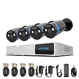 1080P Sistema de seguridad Kit 4ch HD H.264 DVR 4 camaras de seguridad H.View 2.0MP IP66 camara exterior P2P IR Vision nocturna sistema de vigilancia-