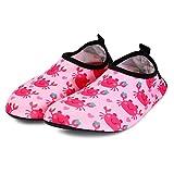 Bmeigo Kinder Wasser Schuhe Badeschuhe Barfuß Schnell Trocknend Aqua Haut Socken für Mädchen Jungen Strand Schwimmbad Schwimmen Tauchen Surf Yoga Hallenschuhe