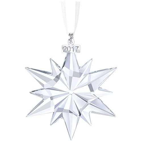 Swarovski Weihnachtsornament, Jahresausgabe 2017 Figur, Kristall, Transparent, 6.1 x 0.9 x 7.7 cm