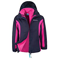 Mountain Warehouse Lightning 3 in 1 Kids Jacket - Waterproof Kids Coat, Zipped Pockets, Detachable Inner Fleece & Hood Childrens All Season Coat, Taped Seams Rain Jacket