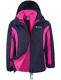 Mountain Warehouse Lightning 3 in 1 Kids Jacket - Waterproof Kids Coat, Zipped Pockets, Detachable Inner Fleece & Hood Childrens All Season Coat, Taped Seams Rain Jacket