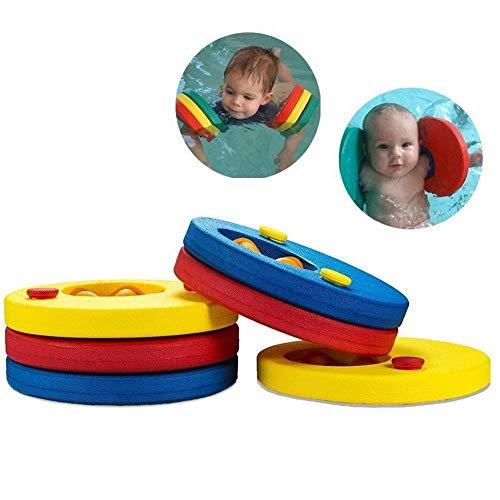 ACMEDE 1 Paar Schwimmflügel aus ingesamt 6 Schaumstoff-Schwimmscheiben, Schwimmringe, Schwimmhilfe für Kinder, Jungen, Mädchen, Kleinkinder (2-10 Jahre)