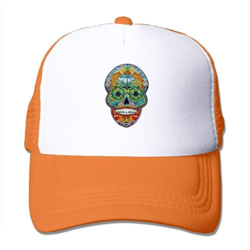 Sugar Skull Puzzle Mesh Baseball Cap Unisex Adult Adjustable Golf Trucker Hat