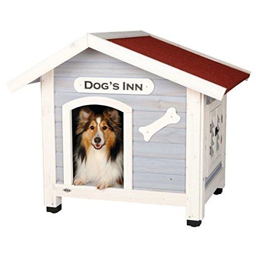 Trixie | natura Hundehütte Dog's Inn mit Satteldach hellblau/weiß | L 107 x B 93 x H 90 cm - 2