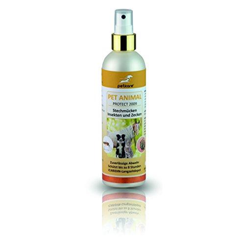 Peticare Insekten-Spray mit ICARIDIN für Hunde, Pferde - Schutz-Mittel gegen Stech-Fliegen, Mücken, Bremsen, Moskito u.a, Stopp zur Fliegendecke, hautschonend, WHO getestet - petAnimal Protect 2009