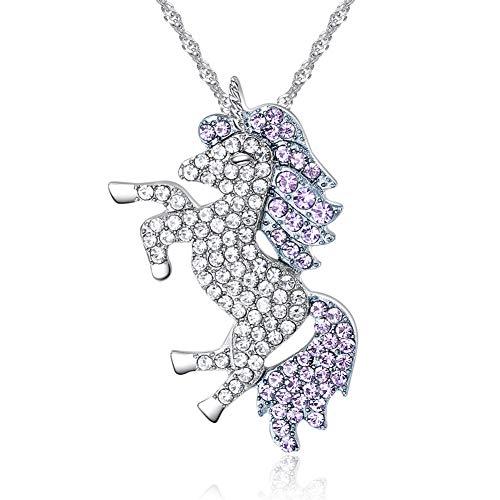 Wansan ciondolo collana unicorno collana di gioielli per le donne ragazze regalo accessori da festa