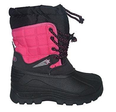 Botas de Nieve para niños y niñas, Impermeables, térmicas, de Pelo, para Invierno, Color Negro, Talla...