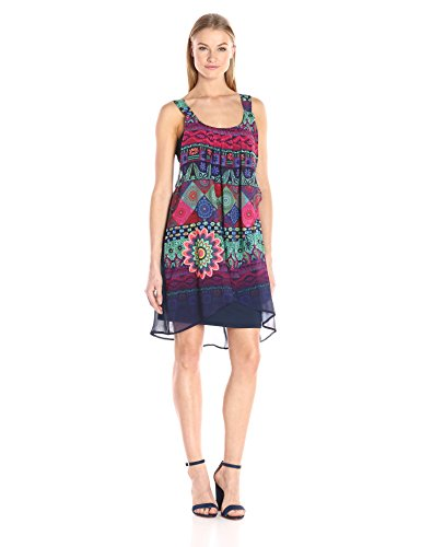 Desigual Damen Casual Kleider VEST_MAGIC, Blau (Navy 5000), 44