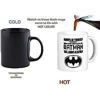 "Orama MUG1025 ""Always be yourself unless you can be Batman ""-Lustige Neuheiten Magische Tee/kaffee Tasse, 325,3 ml, Keramik, schwarz, 6 x 6 x 6 cm"