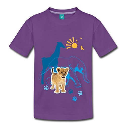 afrika-savanne-animal-planet-kinder-premium-t-shirt-von-spreadshirtr-110-116-4-jahre-lila
