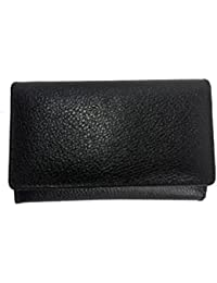 Vira Leather: Women's Wallet (clutch Style) With 6 Compartments (Black)