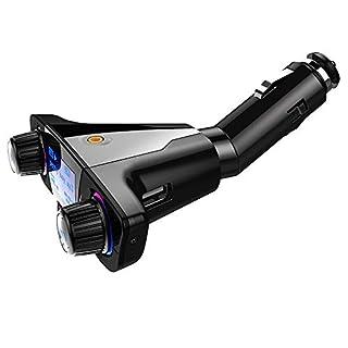 Belingeya-cc Bluetooth Empfänger Tragbarer Auto Bluetooth Empfänger MP3 Player Multifunktions Wireless Bluetooth Adapter U Disk Autoladegerät Zigarettenanzünder für Heim- und Auto-Audiosysteme