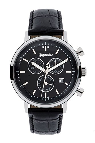 Gigandet Classico Men's Analogue Chronograph Quartz Watch Black G6-004