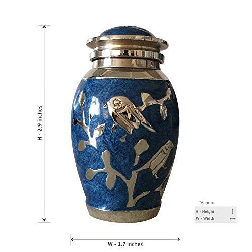 Zbao Schmuck Urne Einäscherung Andenken Asche Urnen Einäscherung Box Kleine Asche - Segen Silber Vogel Kleine Souvenir Box -