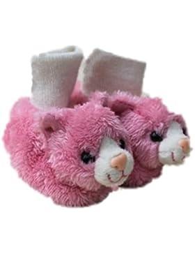 Spatzl Krabbelschuh (Lauflernschuh,Lederpuschen) Farbe rosa, Ledersohle Gr. S (18/19) von Anna und Paul