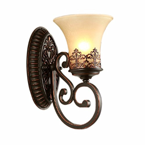 Retro-Lampe am Bett Balkon Schlafzimmer Flur Spiegel Lampe Wohnzimmer Eisen Wandlampen,A