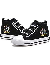 Romenoir My Hero Academia Zapatos Banda elástica Transpirable Zapatos de Lona High-Top Zapatos de Suela de Goma Zapatos Planos Zapatos de la Zapatilla niños y niñas