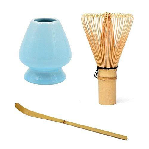 Traditionelles Matcha-Tee-Zeremonialset Matcha-Grüntee-Schneebesen Set-Schneebesen + Scoop + Deep Whisk-Halter Bester authentischer Zubehörsatz für japanische Matcha-Grüntee-Zeremonie