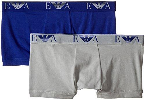 Emporio Armani Underwear Herren Retroshorts 1112105A715, 2er Pack Mehrfarbig (ROYAL BLUE/GHIACCIO 14933)