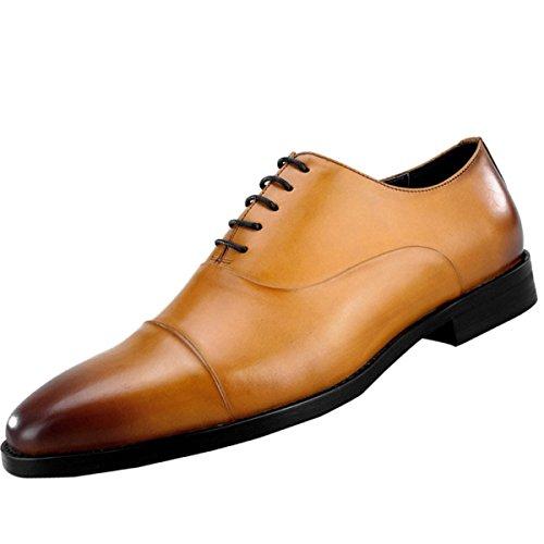 QVRGE Hommes Derby Chaussures Hommes Daffaires Classiques De La Mode brown