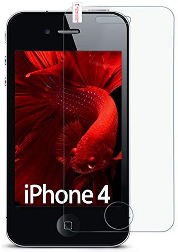 für iPhone 4S | Panzerglas Display Glasfolie [Tempered Glass] Screen Protector Glas Displayschutz-Folie für iPhone 4/4S Schutzfolie ()