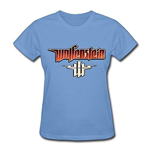 Nana-Custom Tees - Camiseta - para mujer Negro azul claro X-Small