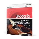 D'Addario Cordes en bronze phosphoreux et avec filet supérieur plat pour guitare acoustique D'Addario EFT17, guitare à résonateur, 13-56