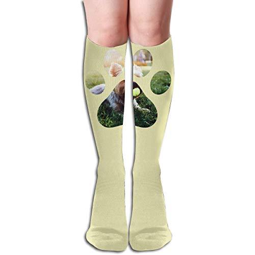 Ljkhas232 Long Socks, Dog Paw Knee High Socks, Unisex Tube Compression Thigh Sock Crew Athletic Football Stockings - Klassische Tube Socks