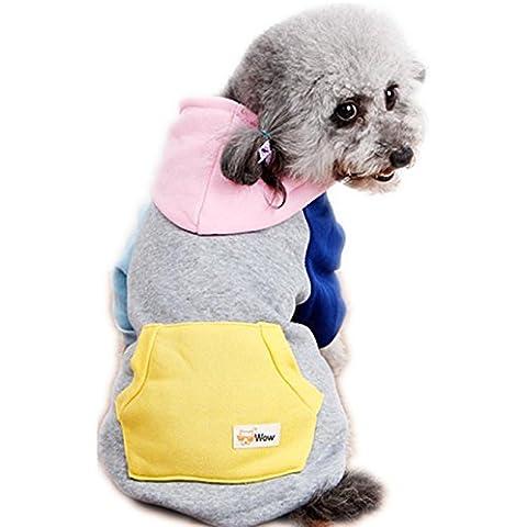 Para mascotas con capucha del mono,RETUROM LINDO caliente de la capa del suéter con capucha del mono del perro de perrito del animal doméstico de ropa Outwear (XXL, Rosa)