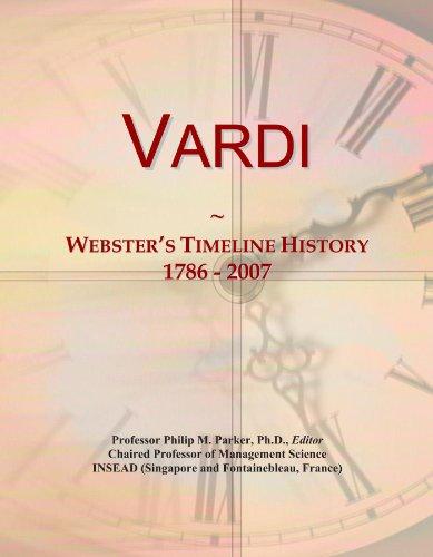 Vardi: Webster's Timeline History, 1786 - 2007