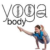 Yoga Studio Wand l Aufkleber Yoga Poster Wandaufkleber Dekor Wohnzimmer Wandbilder Haushaltswaren Wandgrafiken Sport Dekor 42x87cm