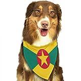 Osmykqe Hund Bandanas Grenada Flagge einstellbar Hundehalsband Katze Schal Welpen Bandans Haustier Zubehör