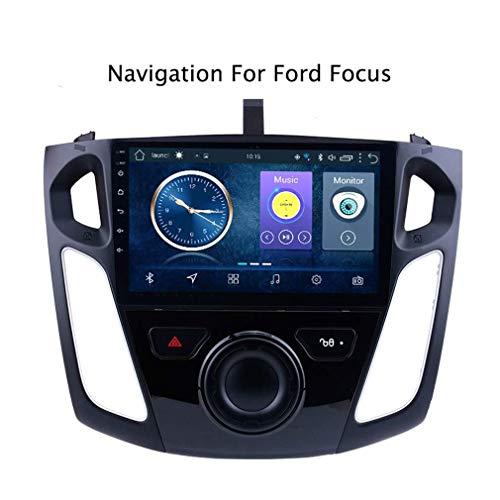 Sistema De Navegación GPS De 9 Pulgadas Android 8.1 DVD del Coche Multimedia para Ford Focus 2012-2015 Radio Incorporada Navegación De Video BT WiFi, Am FM RDS Auto Radio
