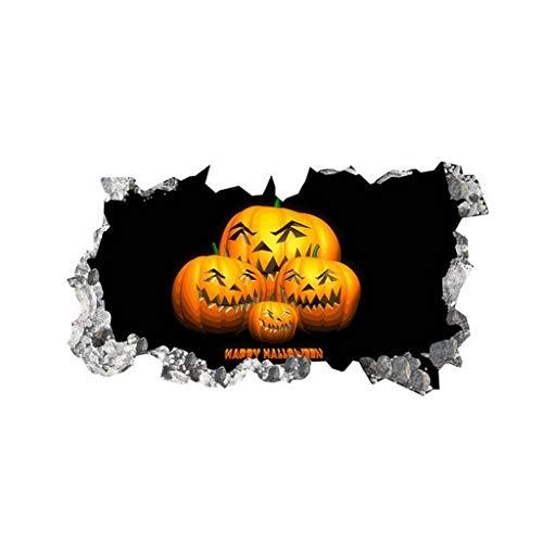 Heetey Halloween Dekoration Halloween-Hintergrund-Wand-Aufkleber-Fenster-Inneneinrichtungs-Abziehbild-Dekor Blutige Sticker/Aufkleber-Halloween Dekoration Kostüm mit Fliege für Party Dekoration