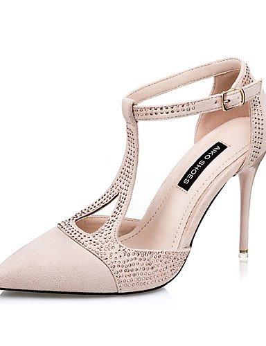 WSS 2016 Chaussures Femme-Mariage / Habillé / Soirée & Evénement-Noir / Vert / Rouge / Amande-Talon Aiguille-Talons / Bout Pointu-Talons-Daim green-us7.5 / eu38 / uk5.5 / cn38