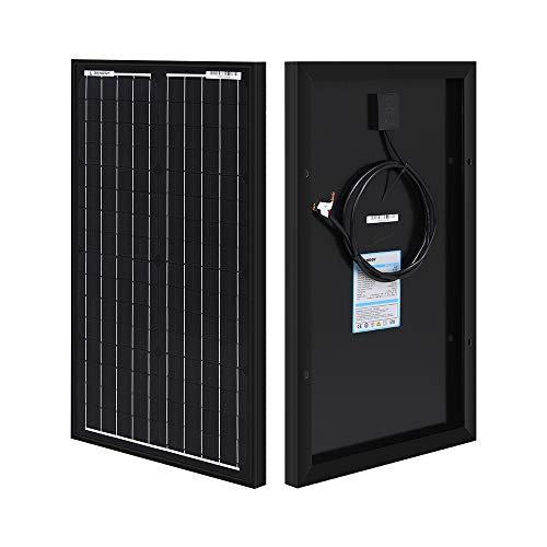 Renogy 30 W Solarmodul Mono 12 V (Schlankes Design) Solarpanel, Solarzelle, Photovoltaikmodul für Aufladen von 12V Solarbatterie