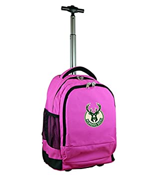 Nba Milwaukee Bucks Expedition Wheeled Backpack, 19-inches, Pink 0