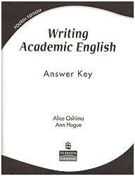 Writing Academic English: WRITING ACADEMIC ENGLISH ANSWER KEY Answer Key
