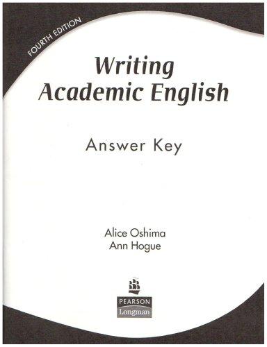 Writing Academic English: Answer Key