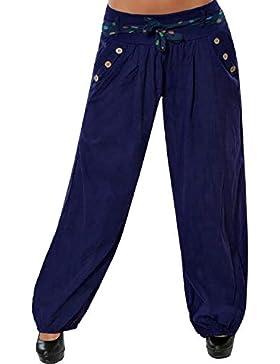 Mujer Pantalones Harén Cintura Elástico Pantalón Moda Casual Color Sólido Pantalones para Deportes Yoga Pilates