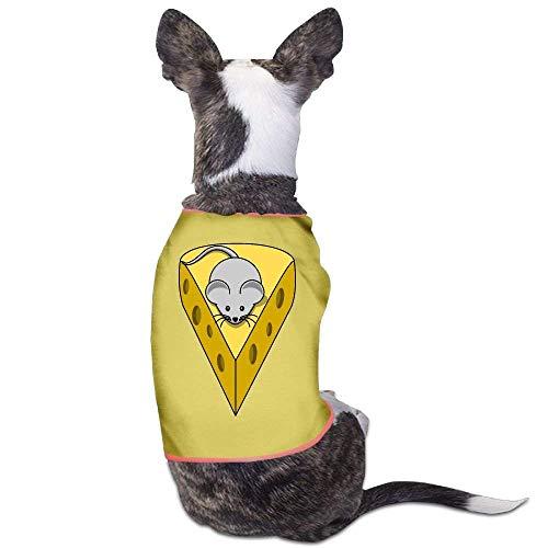 Und Kostüm Maus Käse - GSEGSEG Hunde-Kostüm mit Käse und Maus, lustiges Logo, für Hunde und Katzen, aus Polyester