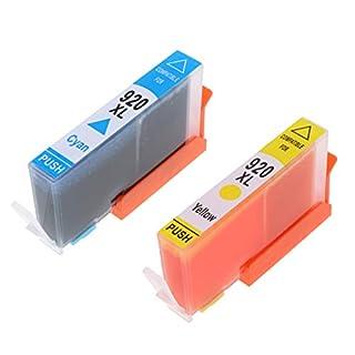 Homyl 2 Stück Printer Ink Cartridges für OfficeJet 6500 AIO(US) E709 / OfficeJet 6500 W AIO-E609a usw. (Cyan & Gelb)