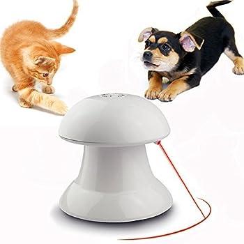 Le jouet chat électronique automatique rotatif point de lumière Chat jouet interactif