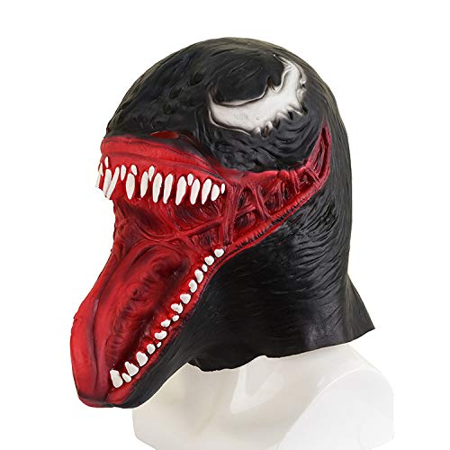 JUFENG Film Black Spiderman Mask Latex Haube Helm Halloween Kostüme Karneval Purim Maskerade Cosplays Partei Requisiten,B-OneSize