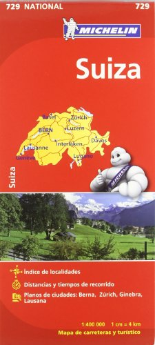 Mapa National Suiza (Mapas National Michelin) por Vv.Aa